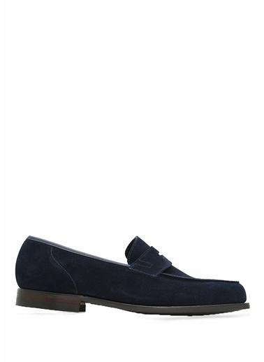 Crocket & Jones %100 Deri Loafer Ayakkabı Lacivert